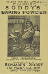 Advert for Soddy's baking powder 6263
